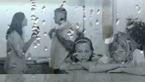 Animazione digitale concettuale dei bambini che soffrono litigare dei genitori di attimo stock footage