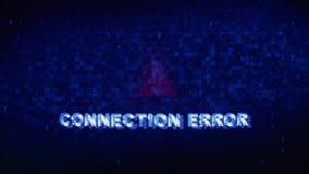Animazione digitale di errori di effetto di distorsione di impulso errato di strappo di rumore del testo di errore del collegamen stock footage