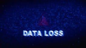 Animazione digitale di errori di effetto di distorsione di impulso errato di strappo di rumore del testo di perdita di dati royalty illustrazione gratis