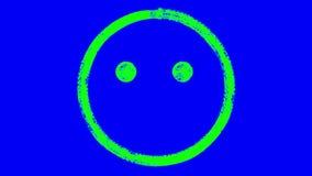 Animazione felice dell'emoticon illustrazione di stock