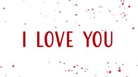 Animazione felice di San Valentino con fare galleggiare i cuori rossi archivi video