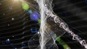 Animazione futuristica con l'oggetto commovente dell'onda e colore che cambia fondo leggero, ciclo HD 1080p stock footage