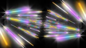 Animazione futuristica con l'oggetto d'ardore della banda della particella al rallentatore, 4096x2304 ciclo 4K royalty illustrazione gratis