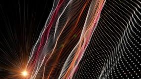 Animazione futuristica con l'oggetto e la luce dell'onda al rallentatore, 4096x2304 ciclo 4K illustrazione di stock