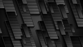 Animazione geometrica di tecnologia nera video video d archivio