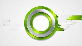 Animazione geometrica di tecnologia verde astratta video