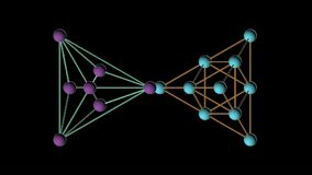 Animazione girante della struttura della molecola del DNA del tetraedro video d archivio