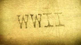 Animazione grafica di titolo della seconda guerra mondiale di WWII Fotografia Stock Libera da Diritti