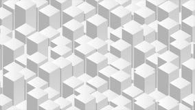 Animazione grigia del video dell'estratto 3d di tecnologia geometrica archivi video