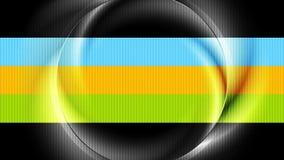 Animazione lucida iridescente luminosa del video dell'estratto dell'anello