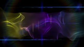 Animazione meravigliosa con l'oggetto dell'onda e le luci commoventi, ciclo HD 1080p stock footage