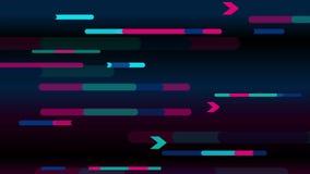 Animazione minima geometrica variopinta dell'estratto video illustrazione di stock