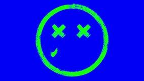 Animazione morta dell'emoticon illustrazione vettoriale