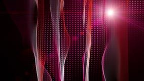 Animazione pericolosa con l'oggetto dell'onda e le luci commoventi, ciclo HD 1080p illustrazione di stock