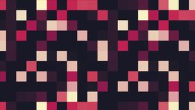 Animazione pixelated variopinta con i quadrati di lampeggiamento, ciclo senza cuciture animazione Modello geometrico di luccichio royalty illustrazione gratis