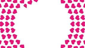 Animazione rosa 4K del ciclo di vibrazione della carta del modello del cerchio di spirale di simbolo del cuore royalty illustrazione gratis