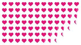 Animazione rosa 4K del ciclo di vibrazione della carta del modello di simbolo del cuore royalty illustrazione gratis