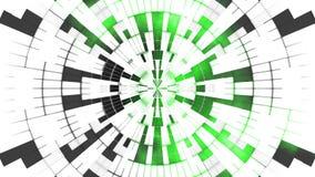 Animazione senza cuciture del ciclo dei cerchi verdi bianchi di Digital del fondo royalty illustrazione gratis
