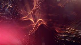 animazione senza cuciture dell'estratto 4k 3d con le particelle di incandescenza Composizione con profondità di campo scintillant video d archivio