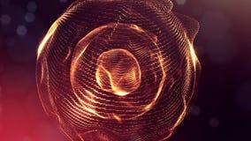 animazione senza cuciture dell'estratto 4k 3d con le particelle di incandescenza Composizione con profondità di campo scintillant stock footage