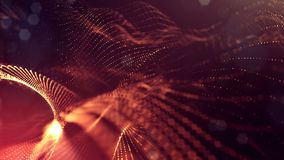 animazione senza cuciture dell'estratto 4k 3d con le particelle di incandescenza Composizione con profondità di campo scintillant archivi video