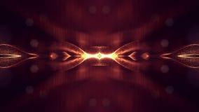 animazione senza cuciture 4k con le particelle e profondità di campo, bokeh ed effetti della luce La forma delle particelle di in archivi video
