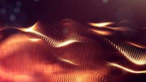 animazione senza cuciture 4k con le particelle e profondità di campo, bokeh ed effetti della luce La forma delle particelle di in video d archivio