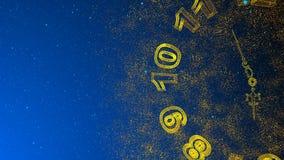 Animazione stilizzata di Natale, a caso muovendosi nelle linee e nei punti dello spazio che formano i simboli 2019 royalty illustrazione gratis