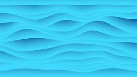 Animazione variopinta di pendenza dell'onda Fondo geometrico futuro di moto dei modelli rappresentazione 3d royalty illustrazione gratis