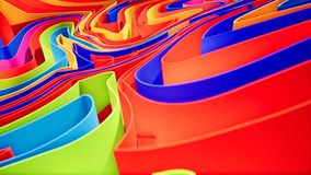 Animazione variopinta di pendenza dell'onda Fondo geometrico futuro di moto dei modelli rappresentazione 3d video d archivio