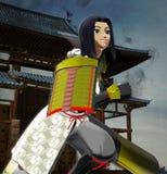 Anime κυρία Samurai Στοκ Εικόνες