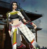 Anime κυρία Samurai Στοκ εικόνα με δικαίωμα ελεύθερης χρήσης