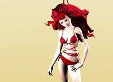 anime γυναίκα Στοκ φωτογραφία με δικαίωμα ελεύθερης χρήσης