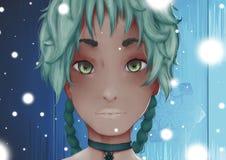 Anime Ilustração Stock