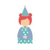 anime avatar kimono has party Royalty Free Stock Image