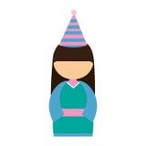 anime avatar kimono has party Royalty Free Stock Photo