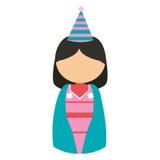 anime avatar kimono has party Royalty Free Stock Photos