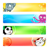 Anime banners | Set 2 stock image