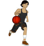Anime Basketball player Royalty Free Stock Photos