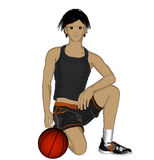 Anime Basketball player Royalty Free Stock Image
