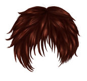 Anime brown hair Stock Photography
