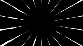 Anime for cartoon background black and white colors. Loop animation manga style . royalty free illustration