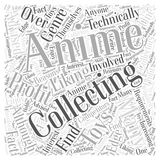 Anime Collectable Toys How to Profit From Them word cloud concept vector background Royalty Free Stock Image