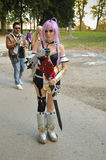 Anime cosplayer Lucca Comics και παιχνίδια 2014 Στοκ Εικόνα