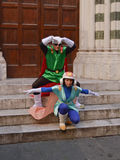 Anime cosplayerS at Lucca Comics and Games 2014 Royalty Free Stock Photography