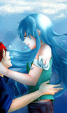Anime couple Royalty Free Stock Image