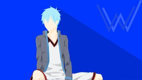 Anime di Kuroko Fotografie Stock Libere da Diritti