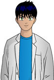 Anime Doctor. Vector illustration of anime doctor character Stock Image