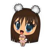 Anime dziewczyna ilustracji