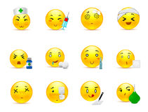 Anime emoticons doctor Stock Photos